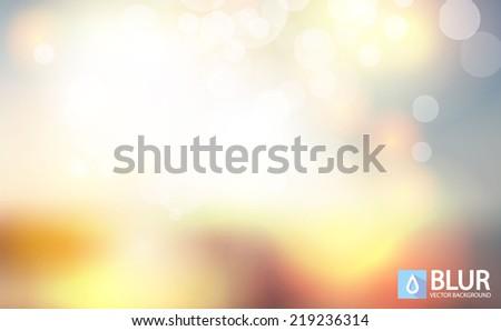 A nature landscape blurred background vector illustration.