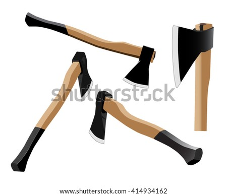 a new ax with ergonomic wooden