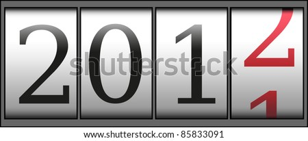 A new year 2012 counter. Vector
