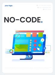 A No code flyer. A Vector concept illustration.