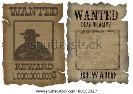 a old wanted posters with a