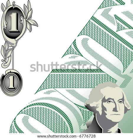 20 dollar bill clip art. stock vector : A one dollar
