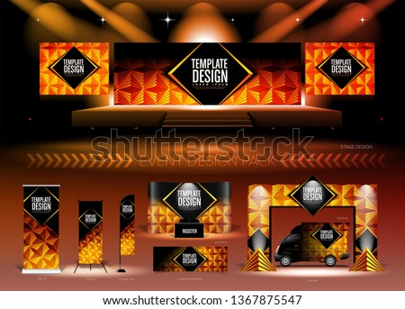 A pack of 3D event design medias with graphic theme, in vector format, in RGB color. It is suitable for event design, event planing, concert, seminar, etc.