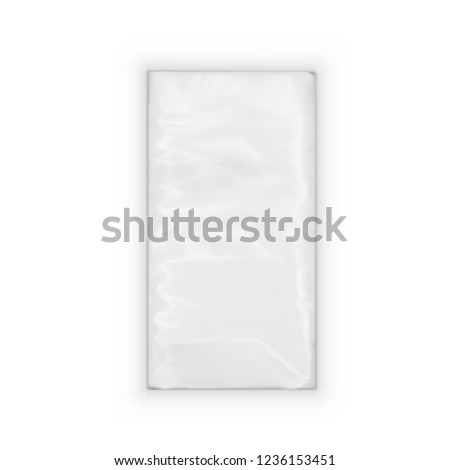 A Pack Of Realistic Pocket Paper Napkins. Tissues Package. EPS10 Vector