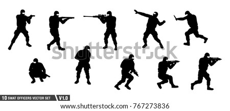 a pack of swat officers