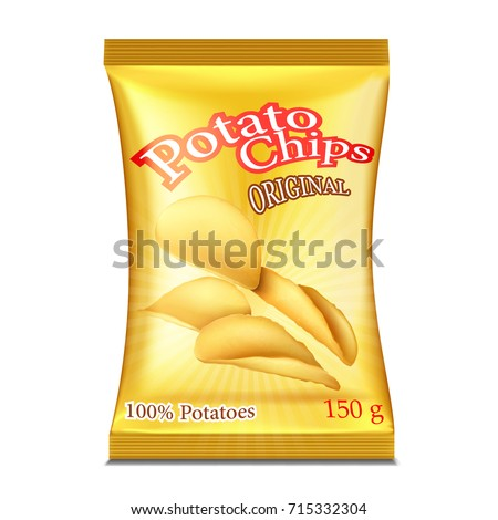A packet of chips. Vector illustration