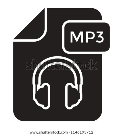 A page with the headphone image and giving the idea of audio file