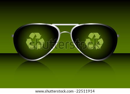 Cool Recycle Symbol With Recycling Symbols