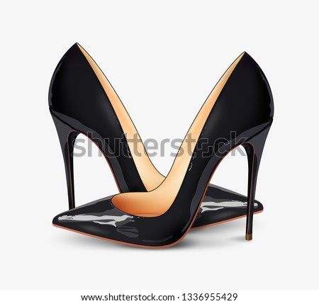e20d8e74595b A pair of beautiful female shoes on a white background