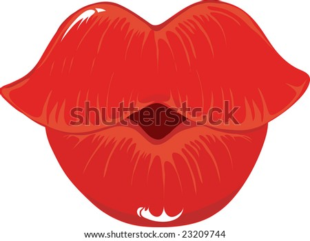 Lips Puckered up And Ready