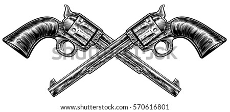a pair of crossed pistol guns