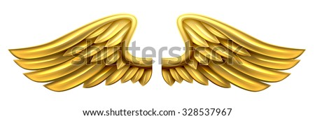 a pair of gold golden shiny