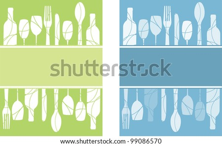 A pair of menu, advertisment or flyer  backgrounds - stock vector