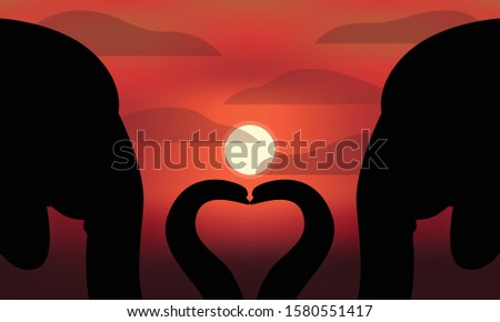 a pair of silhouettes of