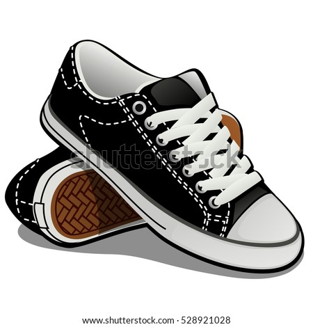 a pair of sneakers with white...