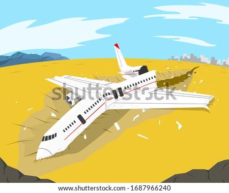 a passenger plane crashed on