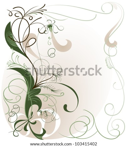 A pattern of interwoven stems against a light background for your text