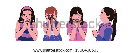 A person can feel fear when he feels threatened, insecure, or guilty. Stock photo ©