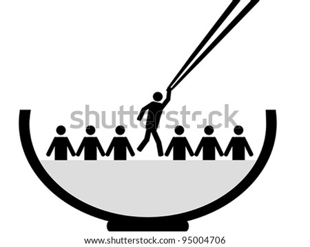 A person is picked - stock vector