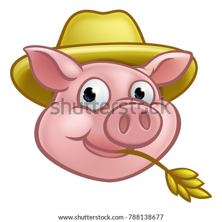 a pig cartoon character with