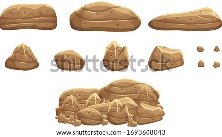 a pile of brown rock stones for