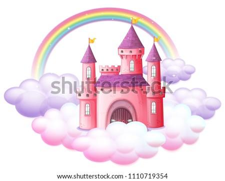 A Pink Fairy Tale Castle illustration