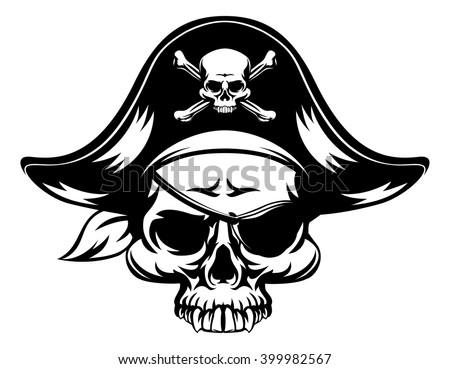 a pirate skull wearing a tri