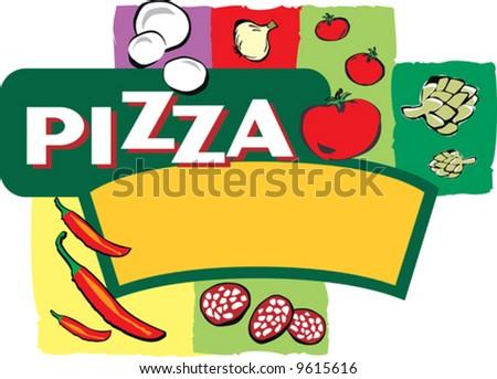 pizza clip art. A pizza insignia clipart