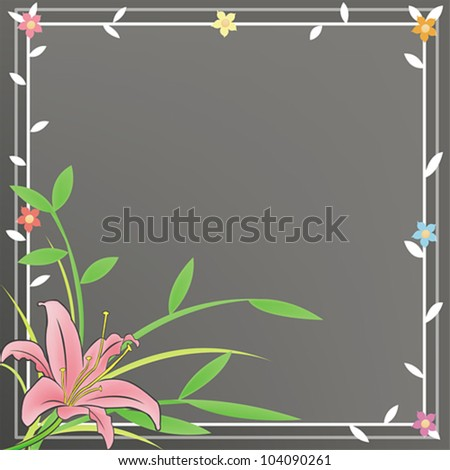 A plain notepad for everyone to use with a pink Lily and black flora background.