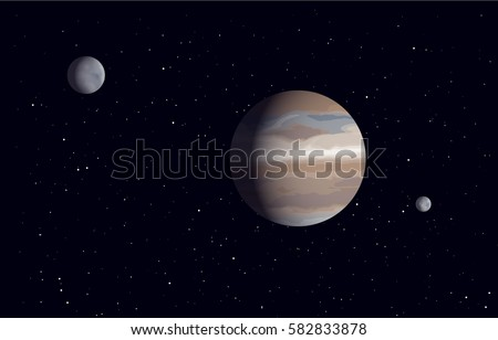 a planet system with two moons