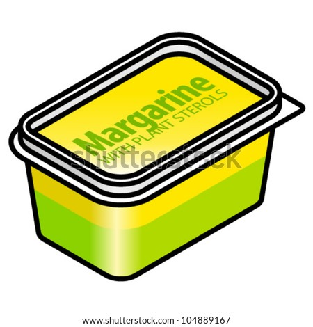 A Plastic Tub Of Margarine With Natural Plant Sterols