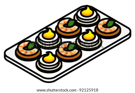 Vector images illustrations and cliparts a plate of for Vector canape download