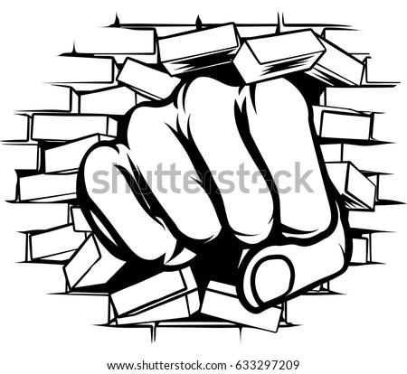 fist download free vector art stock graphics images rh vecteezy com Brick Wall Texture Brick Wall Drawing