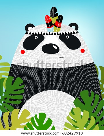 a poster with a panda a