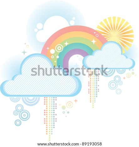 stock-vector-a-pretty-pastel-retro-rainbow-design-on-a-white-background