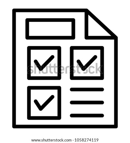A product selection list with tick marks Stock photo ©
