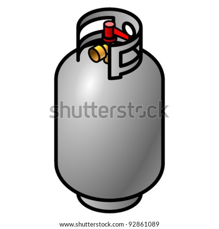 A propane gas cylinder.