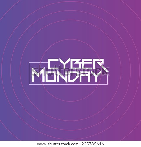 a purple background with text for cyber monday