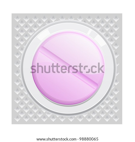 a purple pill sealing in the pack - stock vector