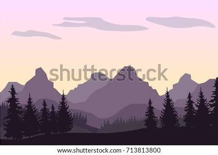 a purple vector landscape with