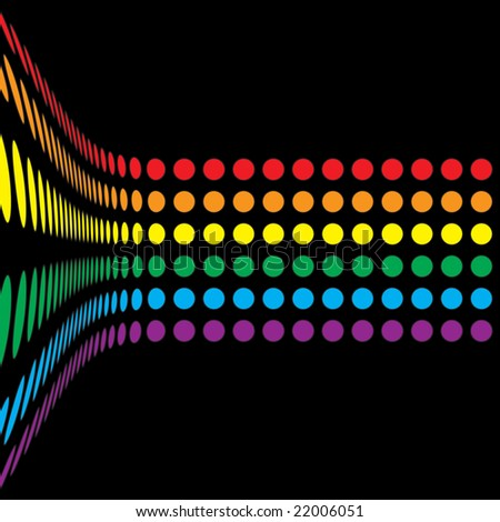 A rainbow colored abstract design template.  This vector is fully customizable.