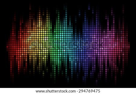 a rainbow colored sound wave