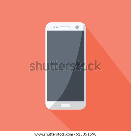 a realistic modern blank, empty cell phone vector illustration or mobile for business & gadget technology on flat design style
