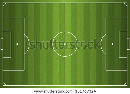 A realistic textured grass football / soccer field. Vector EPS 10. File contains transparencies.