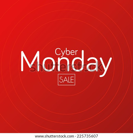 a red background with text for cyber monday