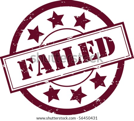 """A Red """"Failed"""" Rubber Stamp Vector Illustration - stock vector"""