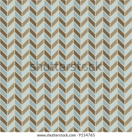 A repeating vector herringbone pattern in blues and browns.
