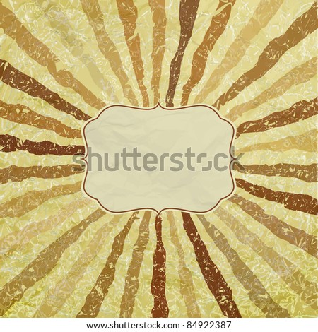 A retro or vintage looking rays pattern that works great as a background or package. And also includes EPS 8 vector