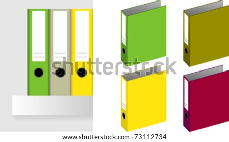 a ring binder isolated on a white background