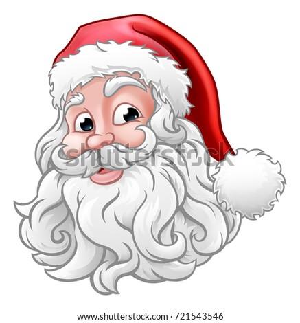 A Santa Claus cartoon character Christmas illustration